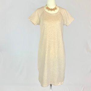 Athleta Cream Jersey Dress Small RN 54023